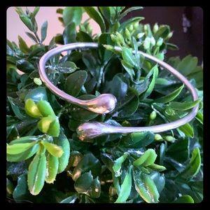 Sterling Silver marked wrap bracelet